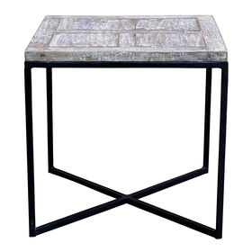 Picture of Mango & Iron Square Side Table