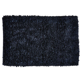 Picture of Black Paper Shag Accent Rug- 27x45 in.