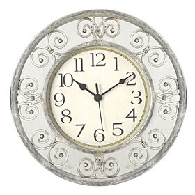 12-in Scroll Mirror Clock