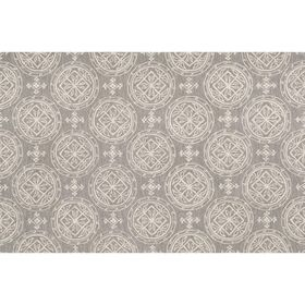 Picture of Zoe Diamond Grey and Cream Rug 5 X 8 ft