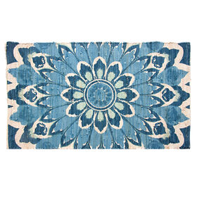 Picture of Malvan Blue Chindi Accent Rug 27 X 45-in