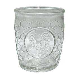 Picture of Rooster Medallion 14 oz Double Old Fashion Glass - set of 4