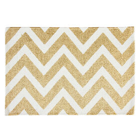 Picture of Gold Chevron Placemat - 4 Pack
