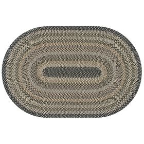 Picture of Jute Navy & Gray Braided Rug- 5 x 7 ft