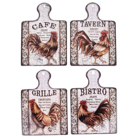 Picture of Rooster Bistro Paddle Trivet- Assortment of 4