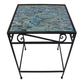 Picture of Rectangle Mosaic Black &Teal Table