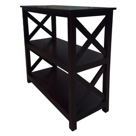 Picture of X SIDE 3 TIER BOOKSHELF 29 BLK