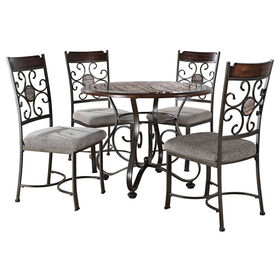 Picture of 5-Piece Milan Faux Marble Dining Set