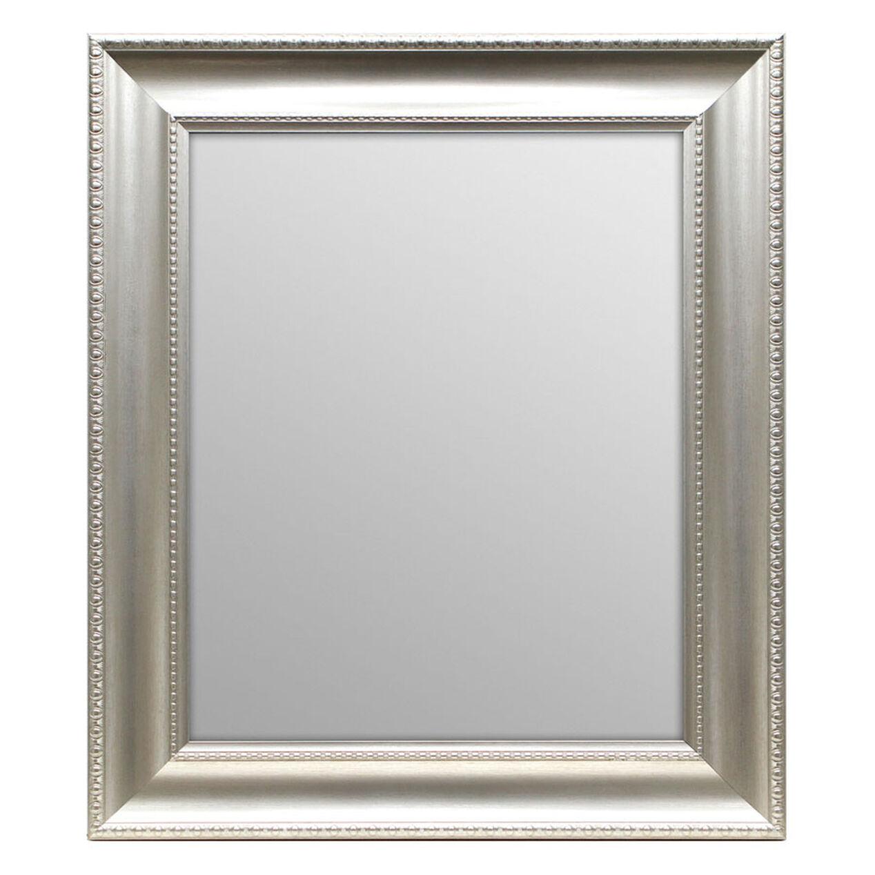 22 x 28 in antique silver beveled anne mirror