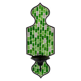 Green Mosaic Sconce Wall Holder