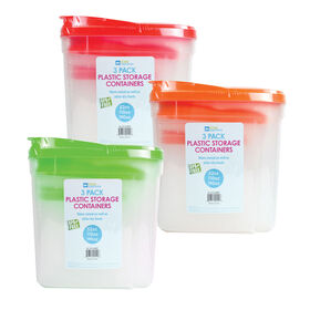 Picture of 3 Pack Plastic Containers 52/110/190 Ounces