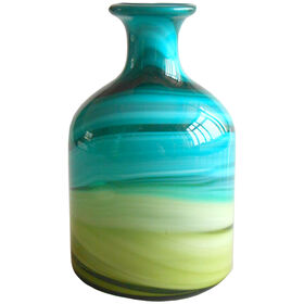 Picture of Green and Blue Glass Bottle - 8 in.