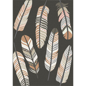 Picture of Tribal Feathered Rug- 27x45 in.