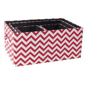 Picture of FBRC RECT CHEVRON BASKET RED S