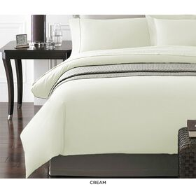 Picture of NYC Ivory 3-Piece Duvet Set, King