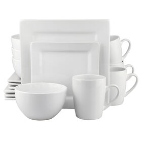 Picture of 16 PC SQ DINNERWARE SET WHITE
