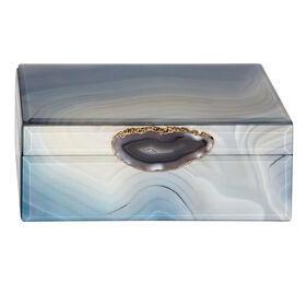 Picture of Blue Agate Decorative Box - 8 x 5-in