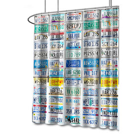 Picture of License Plate Shower Curtain