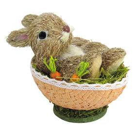Picture of Rabbit Lying on Egg Decor- 6.69 in.