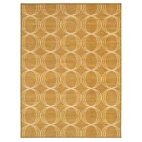 Picture of Monaco Gold Triple Geometric Rug 8 X 10 ft