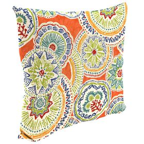 Amanda Poppy Square Outdoor Pillow