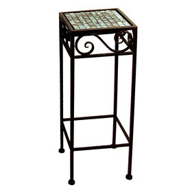 Picture of Blue-Tiled Mosaic Plantstand