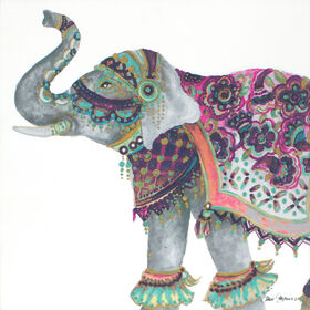 Picture of 18 X 18 - Textured Boho Elephant