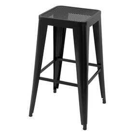 Picture of Wrought Iron Barstool - Black 29 in.