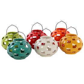 Picture of Ceramic Tea Light Lantern, Assorted - 5.5 x 5.5-in