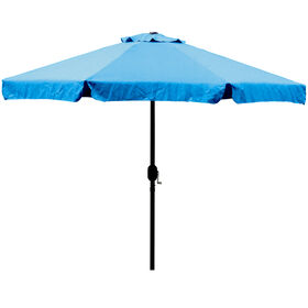 Picture of Crank Tilt Aqua Blue Umbrella- 9-ft