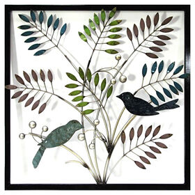 Picture of 24 X 24-in Bird Leaves Wall Décor