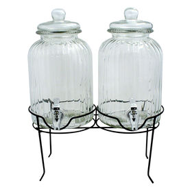 Picture of 1-gal Double Ridge Beverage Dispenser with Stand