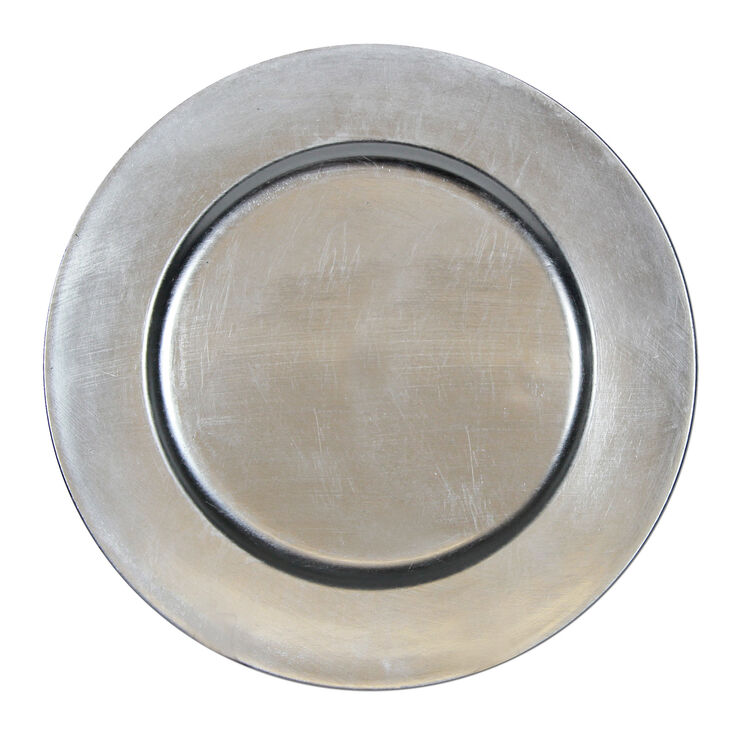 Silver Plain Charger- Set of 4