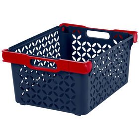 Picture of Storage Basket - Navy and Red Handle