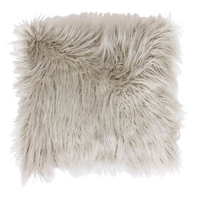 Picture of Oatmeal Mongolian Faux Fur Pillow- 26-in