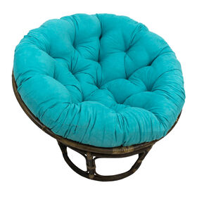 Picture of Aqua Suede Papasan Chair Cushion (base and bowl sold separately)