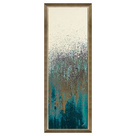 Picture of 12 X 36-in Teal Wood Framed Studio Art