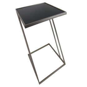 Picture of Black Metal Z Glass-Top Table- Small