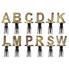 Picture of Gold Monogram Bottle Stopper- Assortment of 12