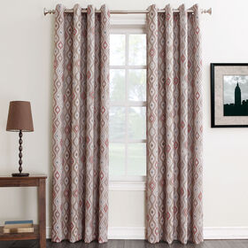 Picture of Darby Paprika Window Curtain Panel