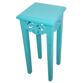 "Picture of 23"" Aqua Plant Stand with Scroll"