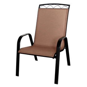 Picture of Brown Sling Chair with Header