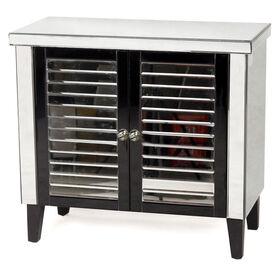Picture of 2 Door Black Shutter Mirror Cabinet 33X30