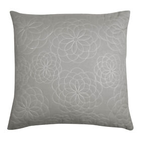 Picture of Gray Natural Breeze Floral Pillow- 18-in