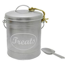 Picture of Treats Tin with Scoop- Silver