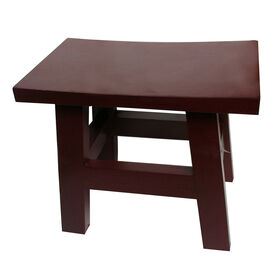 Picture of 14-in Saddle Stool - Walnut