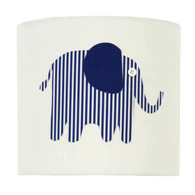 Picture of Blue Striped Elephant Lamp Shade 9 X 9