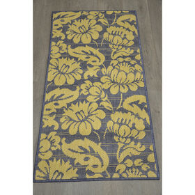 Picture of E127 Blue Miami Floral Rug
