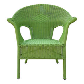 Picture of Wicker Patio Outdoor Chair- Green