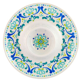 Picture of Spanish Tile Melamine Chip and Dip Tray